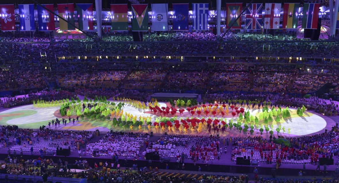 Závěrečný ceremoniál LOH 2016 v Riu de Janeiro na stadioně Maracana