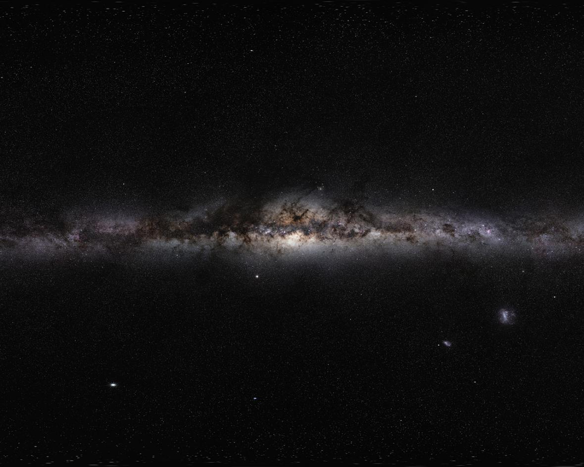 360stupňové panorama Mléčné dráhy