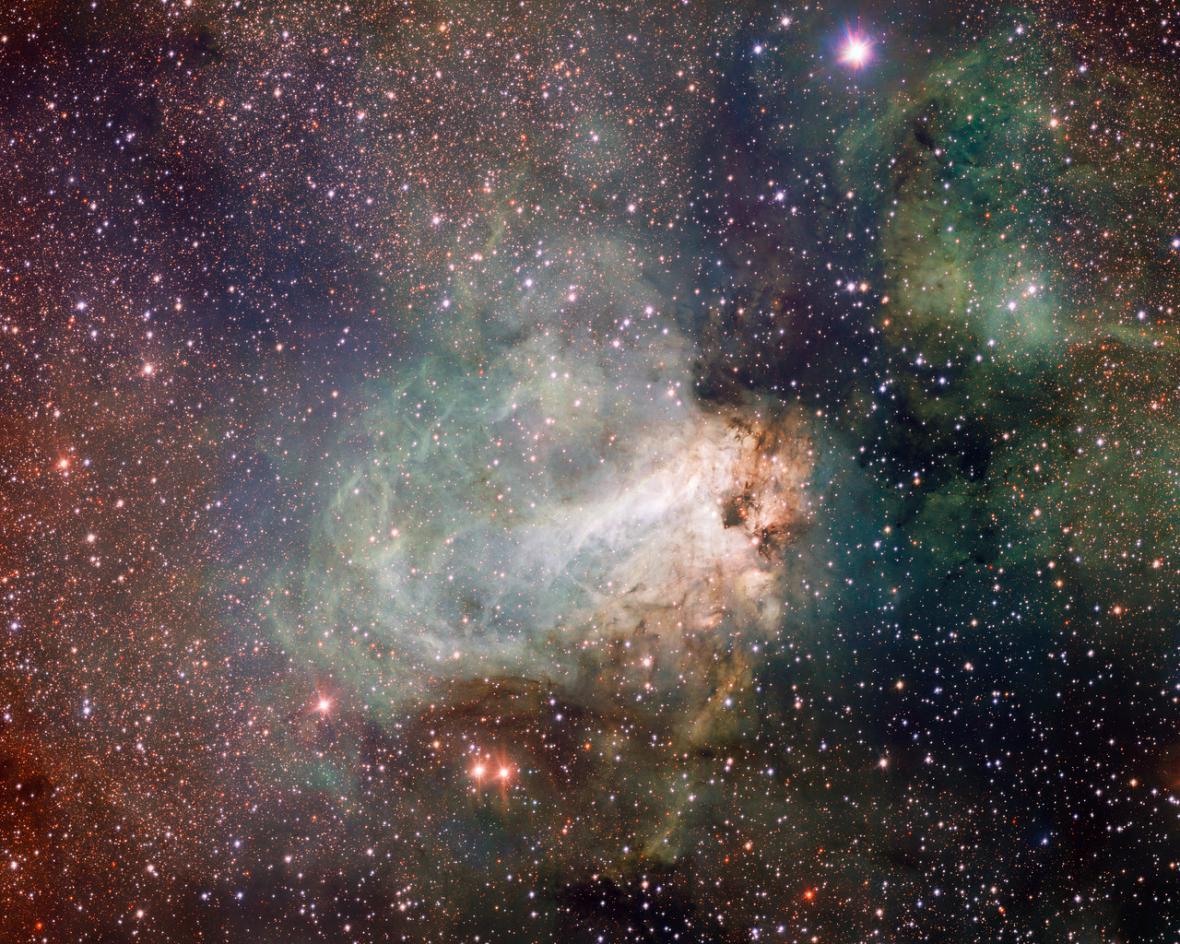 Oblast Messier 17 neboli Labutí mlhovina