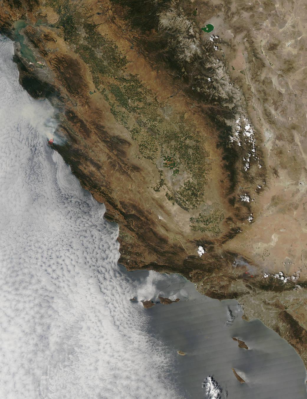 Lesní požáry z družic NASA