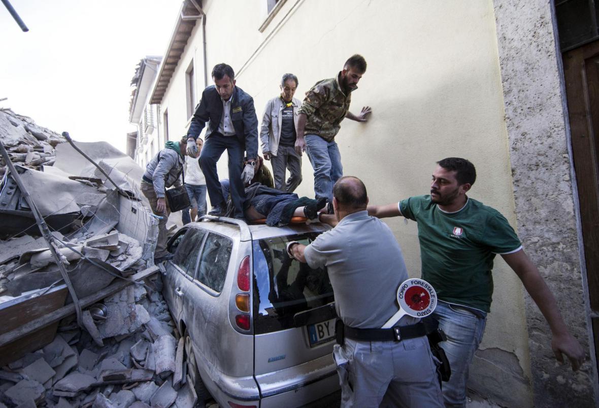 Zkáza v městečkách kolem Perugie