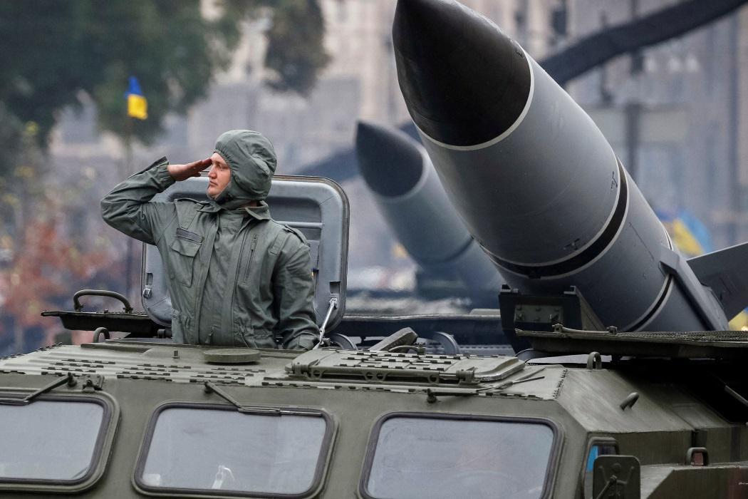 Vojenská přehlídka k 25. výročí nezávislosti Ukrajiny