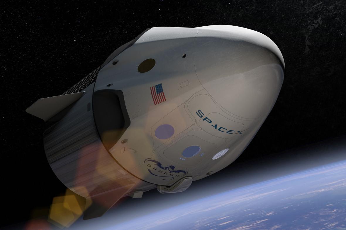 Soukromá kosmická loď Dragon společnosti Space-X