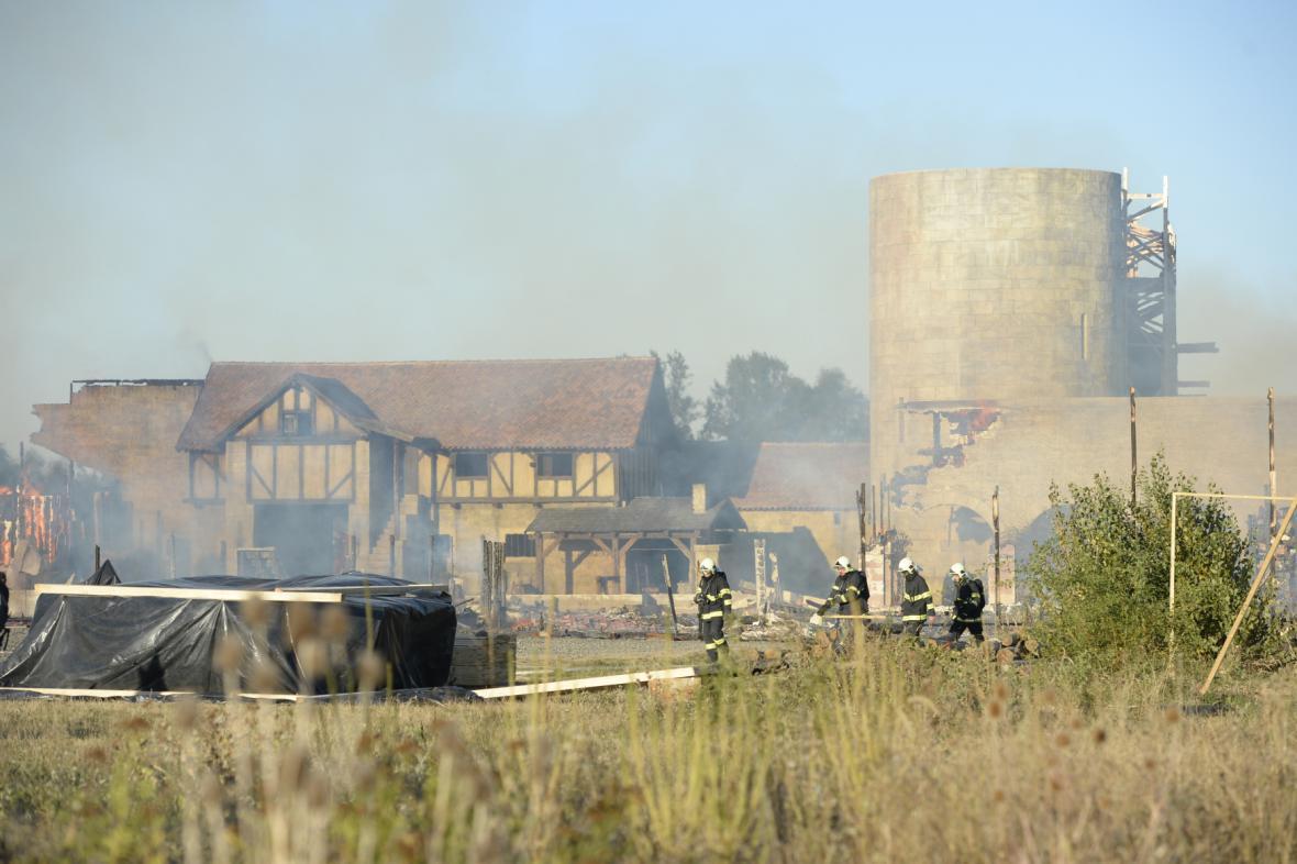 Požár na Barrandově