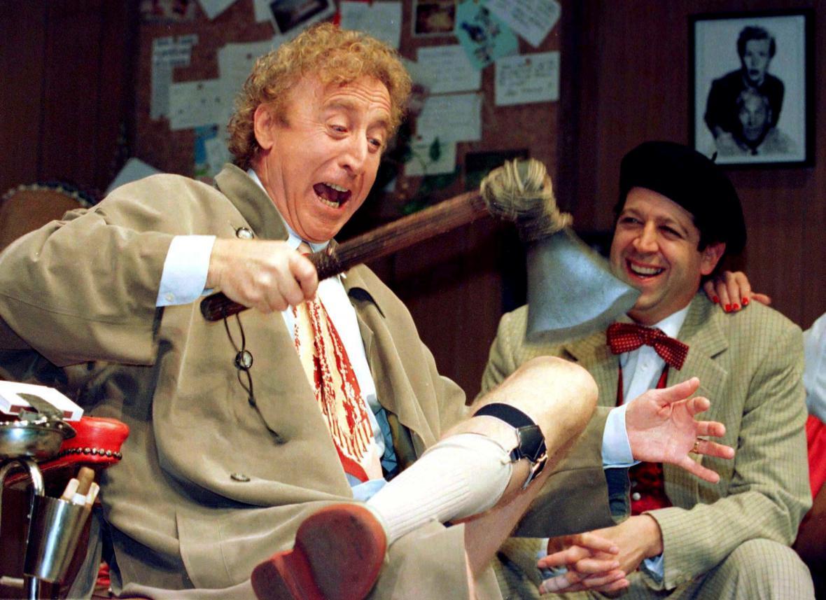 Gene Wilder během divadelní zkoušky (1996)