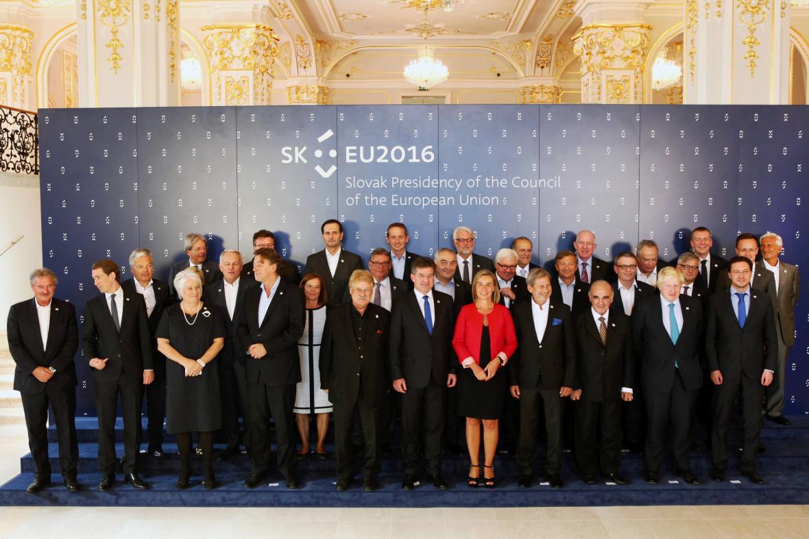 Jednání ministrů zahraničí států EU v Bratislavě