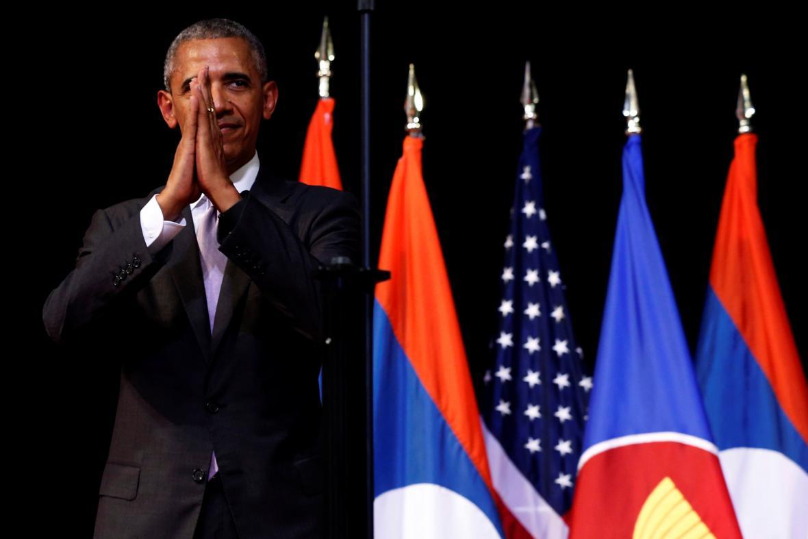 Barack Obama v Laosu
