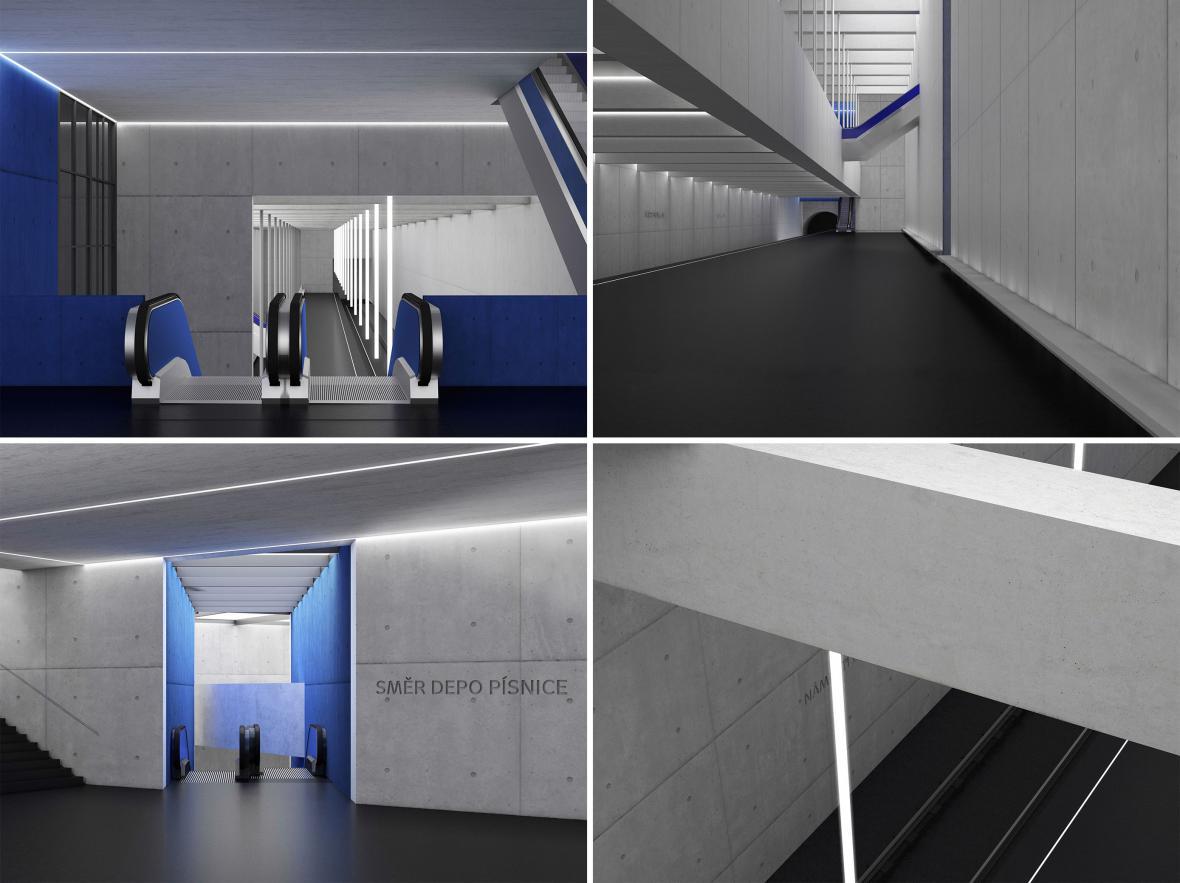 Návrhy stanic metra D očima studentů architektury ČVUT v Praze