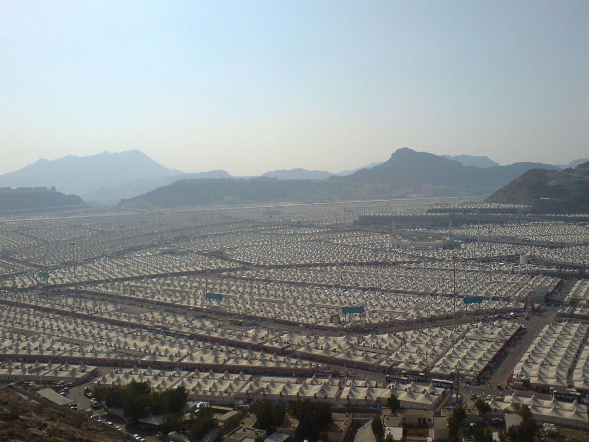 Stanové městečko Míná v Saúdské Arábii