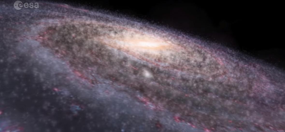 Mléčná dráha, mapa ESA