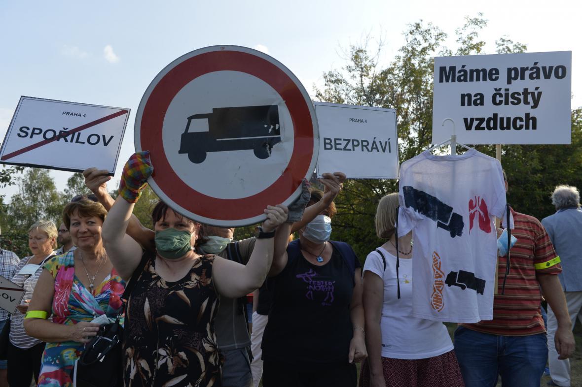 Blokáda na pražském Spořilově
