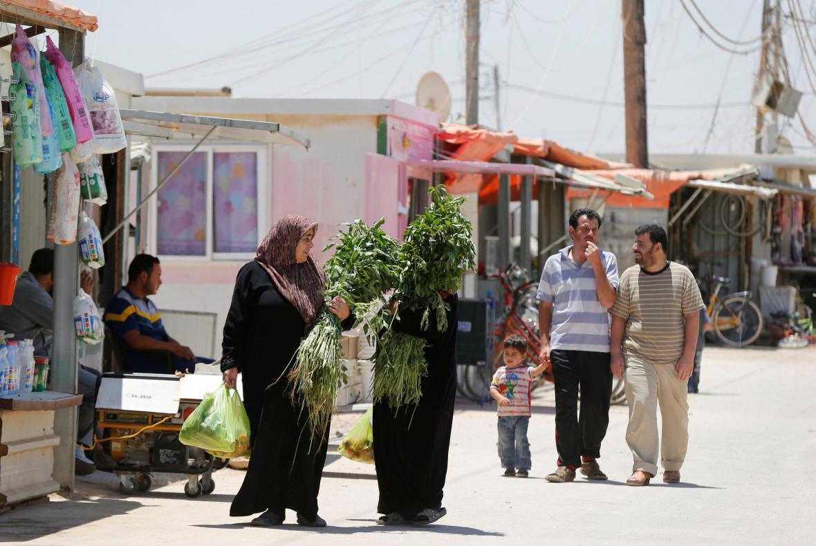 Jordánský tábor Zátarí leží nedaleko syrských hranic