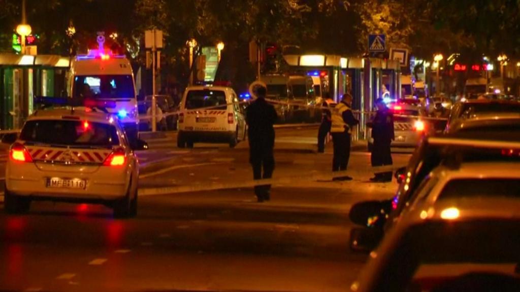 Exploze v centru Budapešti
