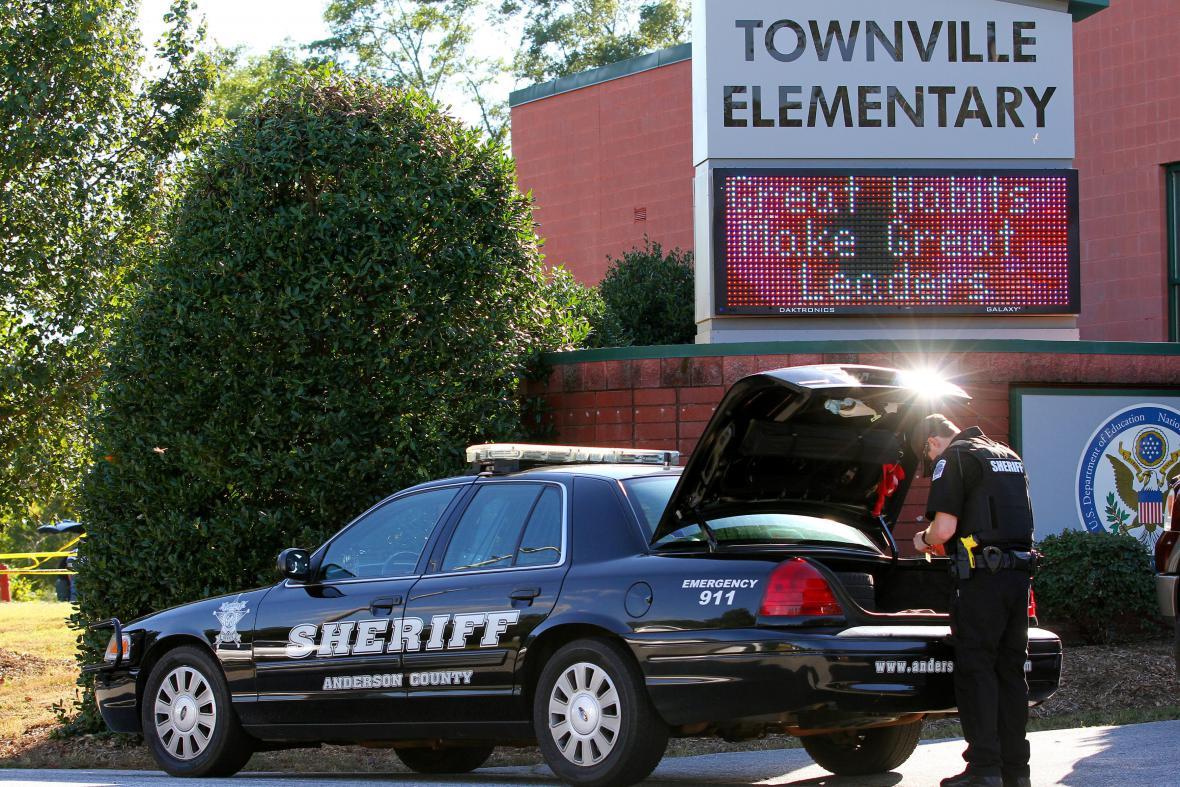 Policie na místě činu v Townville