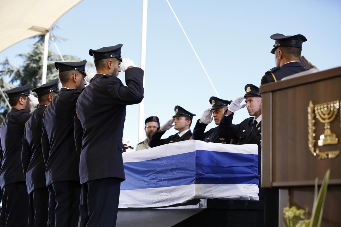 Pohřební ceremoniál v Jeruzalémě