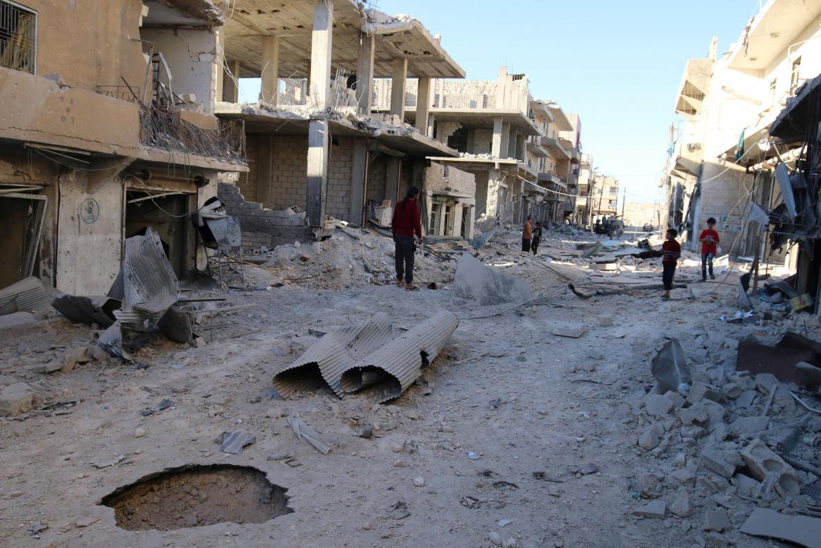 Zdevastované Aleppo