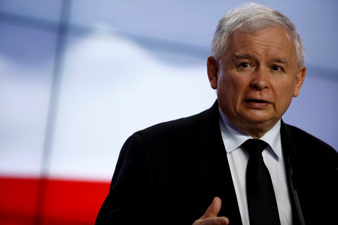 Šéf polské vládnoucí strany Právo a spravedlnost Jaroslaw Kaczyński.