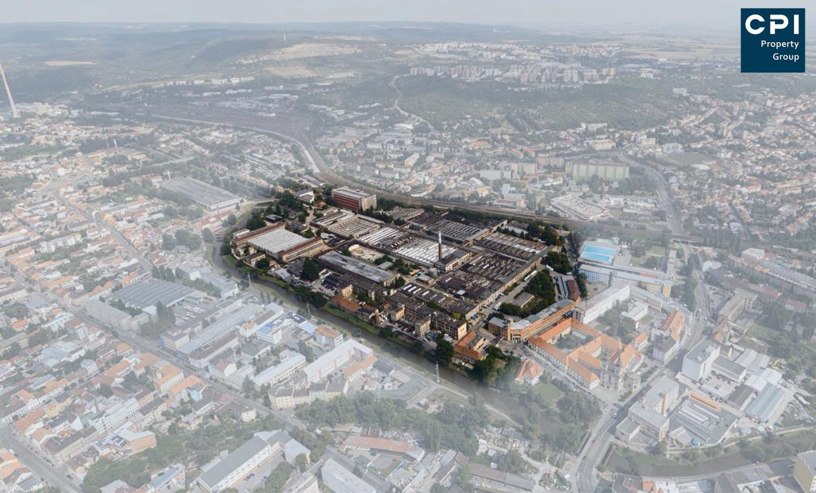 Vizualizace budoucí podoby areálu Zbrojovky