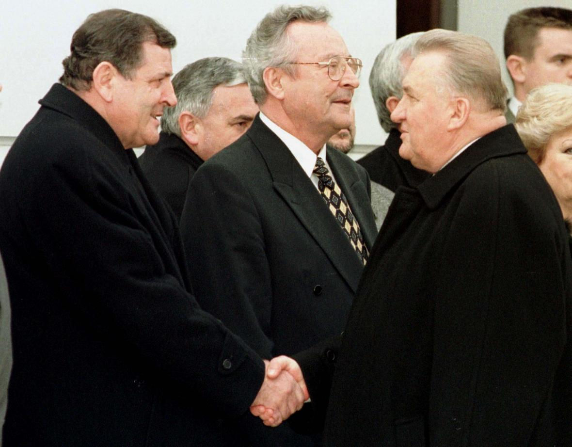 Vladimír Mečiar a Michal Kováč v roce 1998