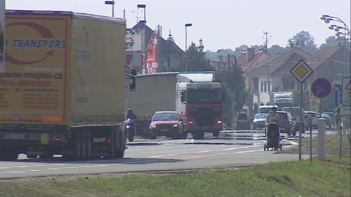 Hustá doprava v Břeclavi