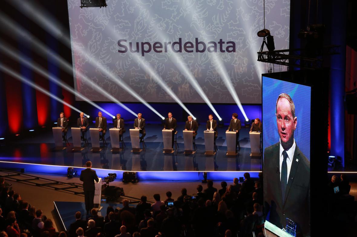 Superdebata se konala v pražském Kongresovém centru