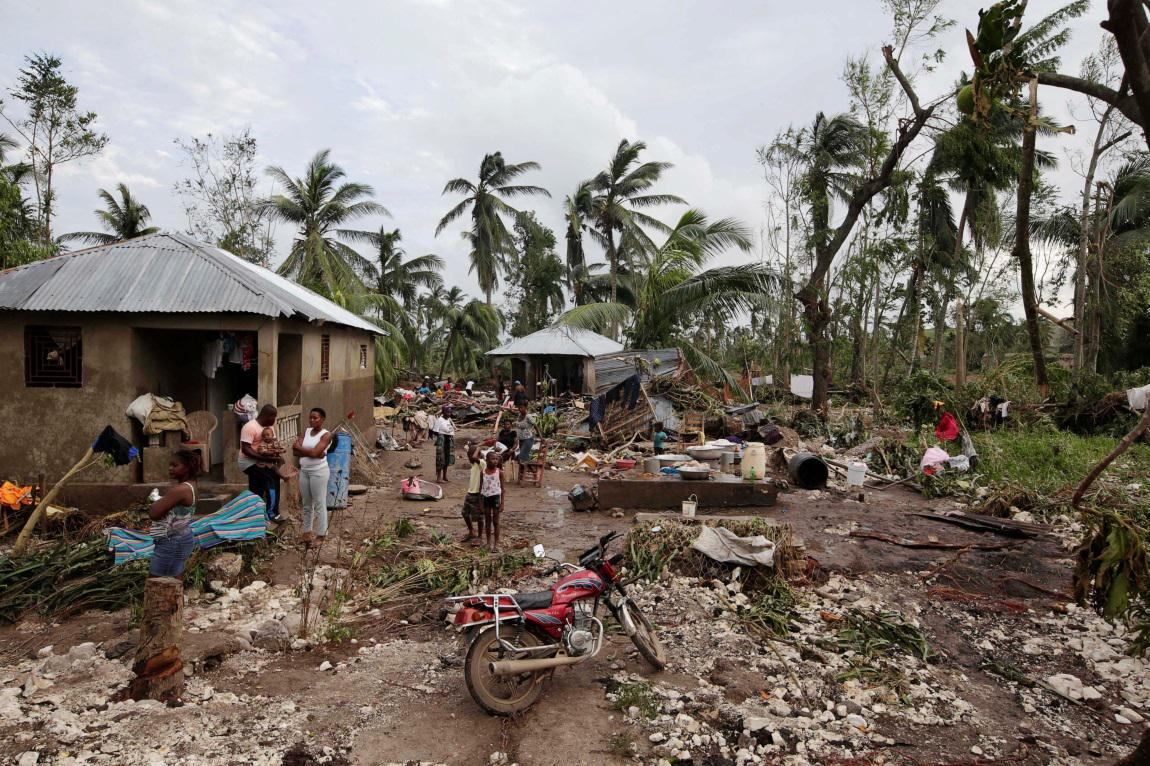 Haiti po přechodu hurikánu Matthew