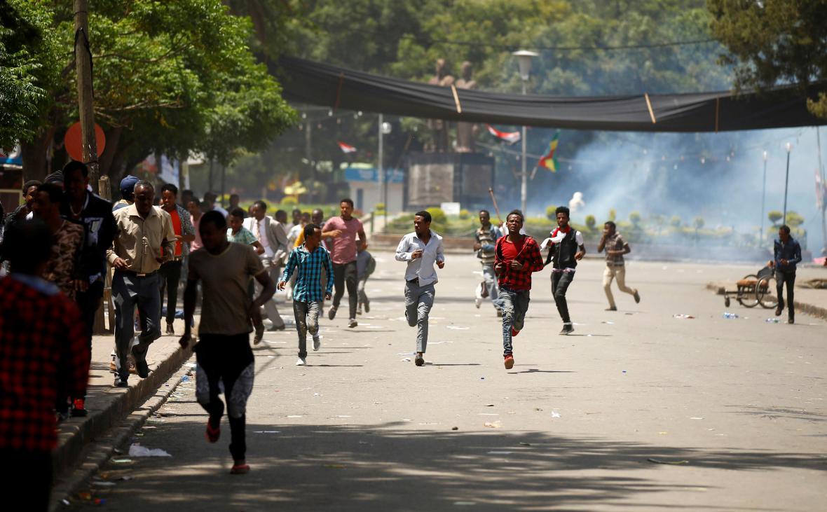 Protesty v Etiopii