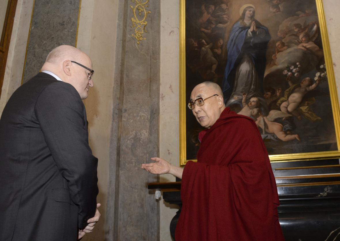Ministr kultury Daniel Herman se setkal s dalajlamou