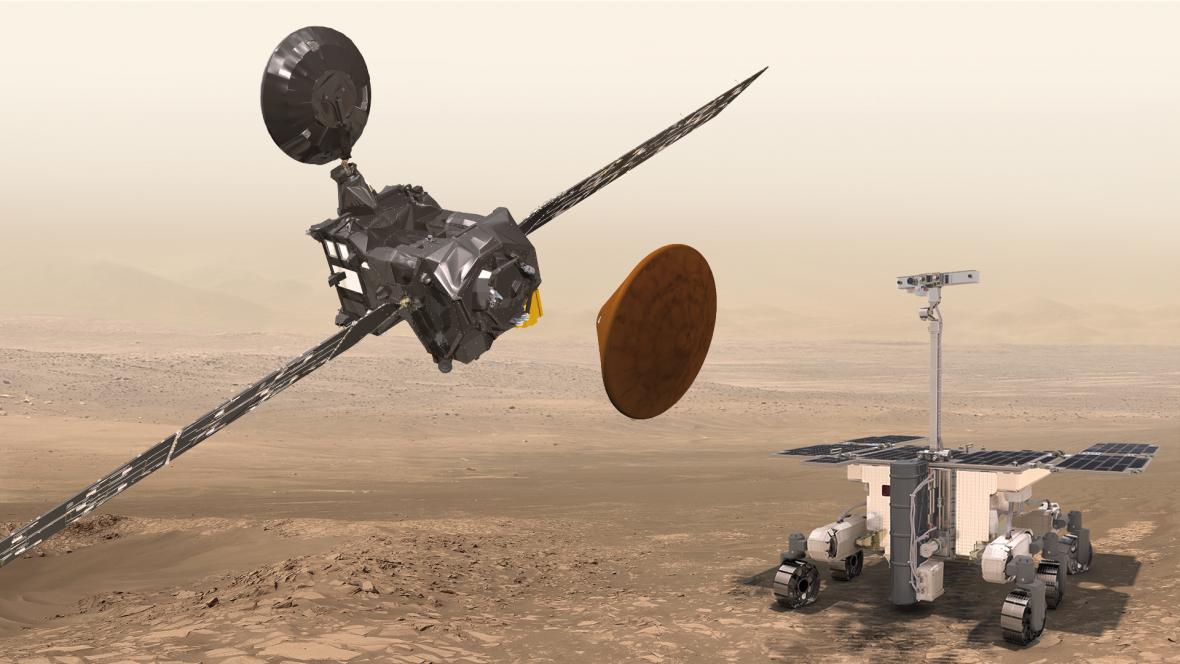 Schiaparelli na Marsu
