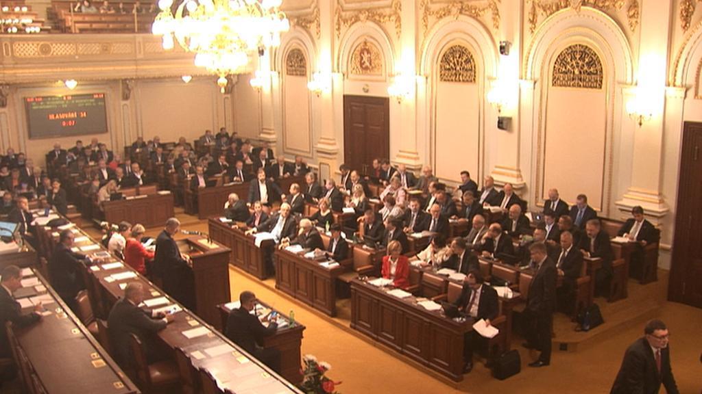 Jednání poslanecké sněmovny.