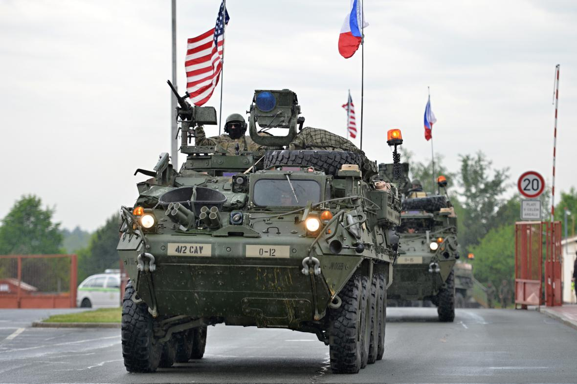 Americký konvoj projížděl Českou republikou letos na konci května