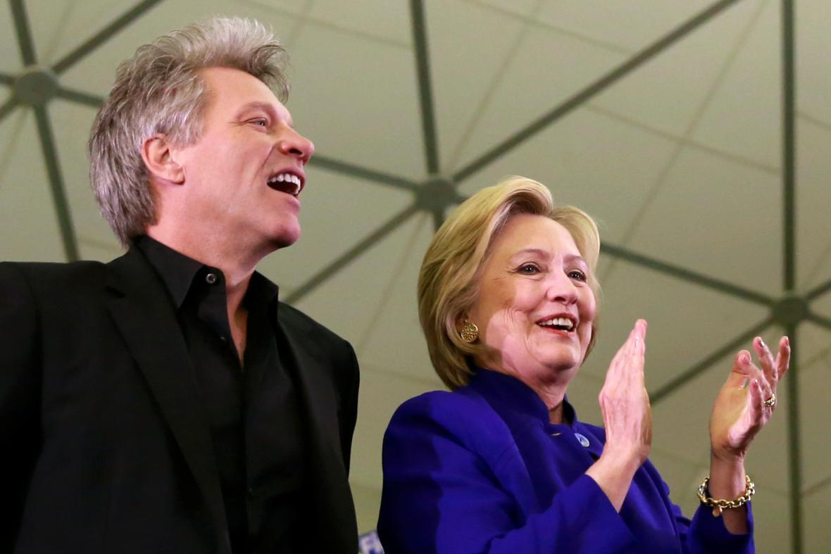 Příznivci Hillary Clintonové