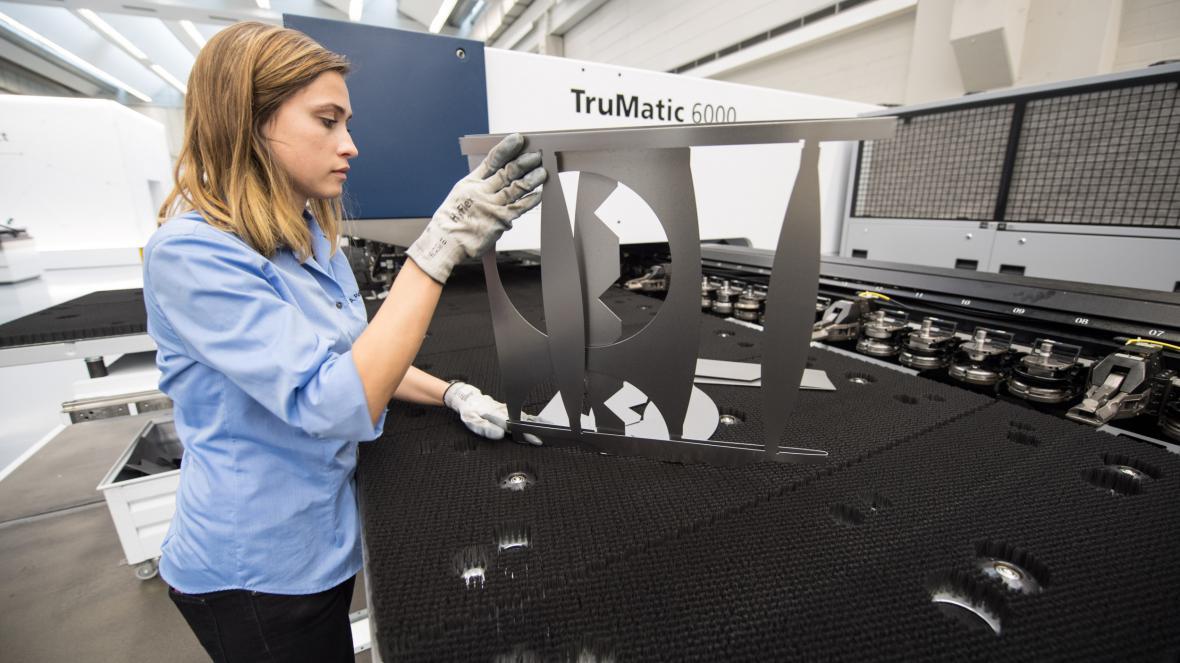 Výroba ve firmě Trumpf
