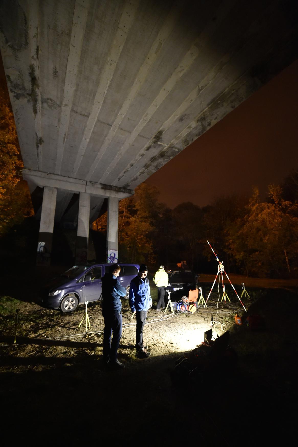 Zátěžová zkouška mostu v Třebíči