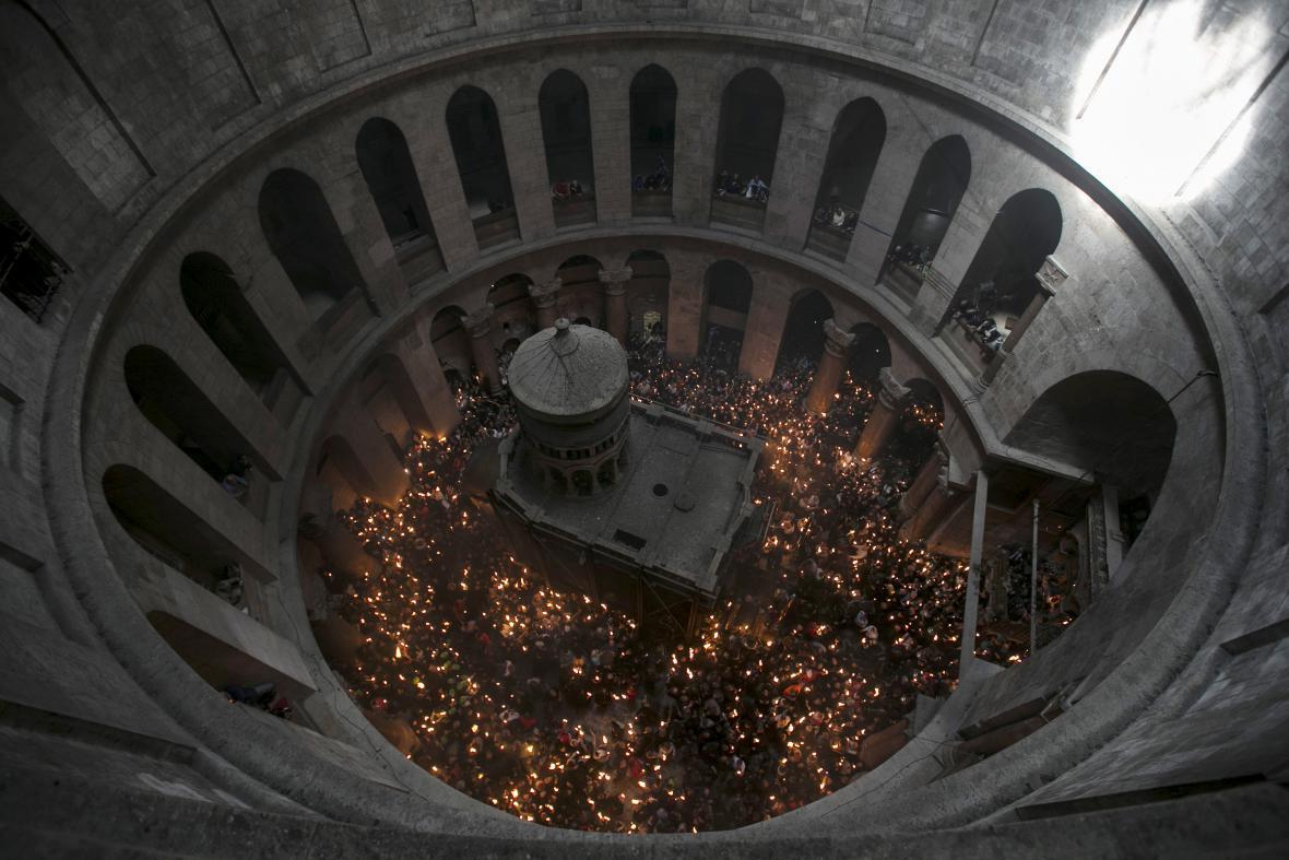 Edikula v chrámu božího hrobu v Jeruzalémě