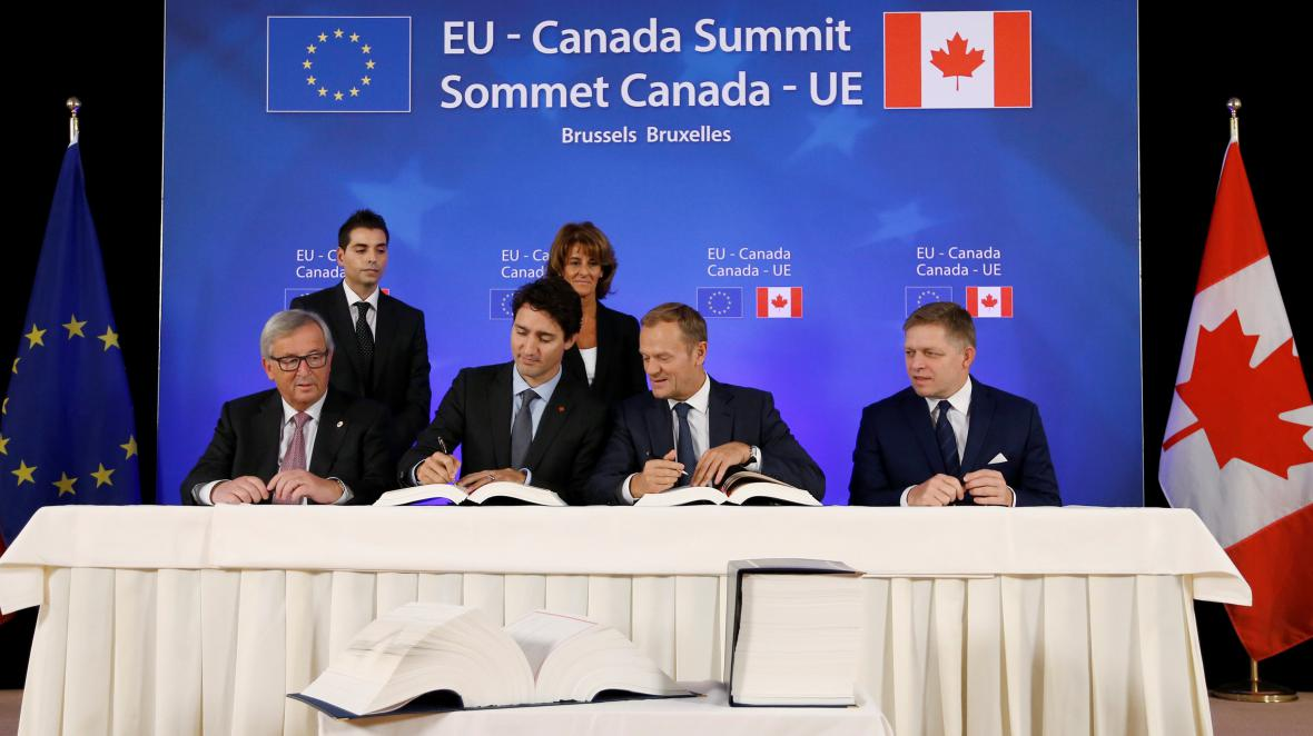 Podpis dohody CETA