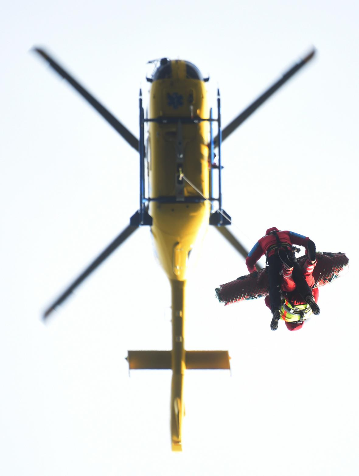 Záchranáři v Beskydech