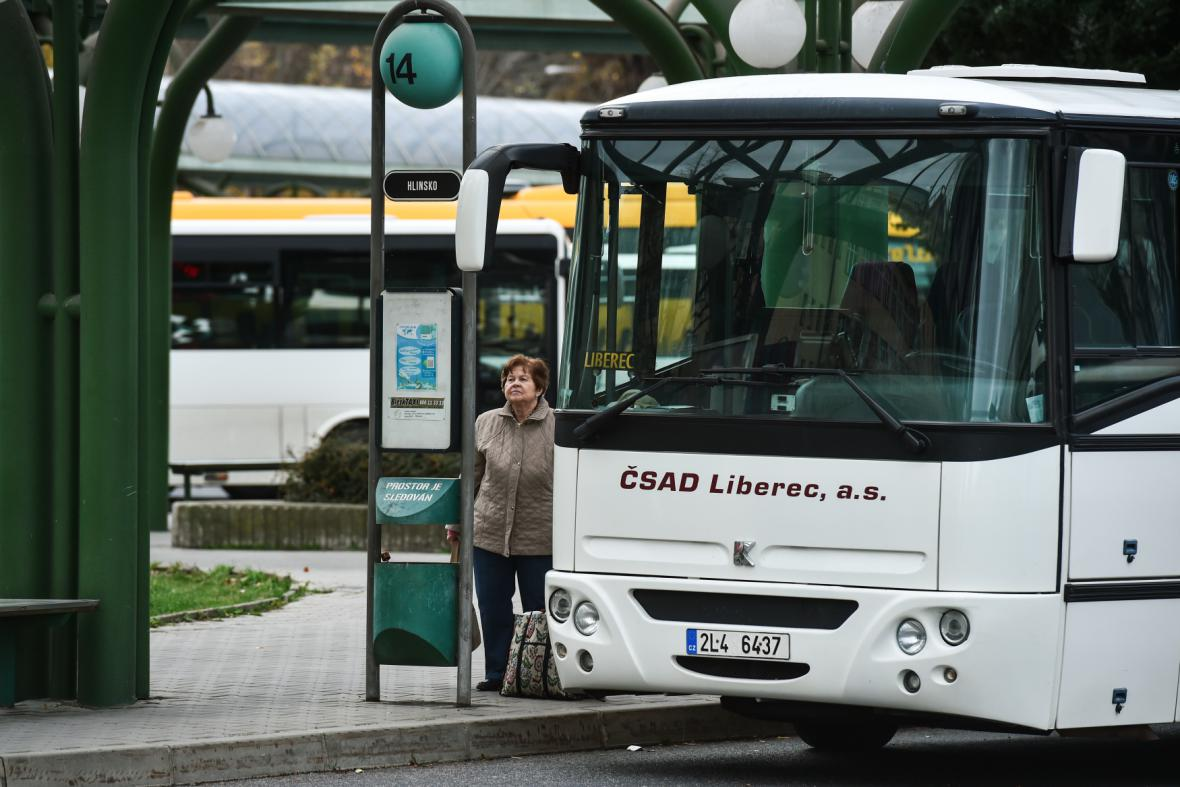 Autobusové nádraží v Liberci