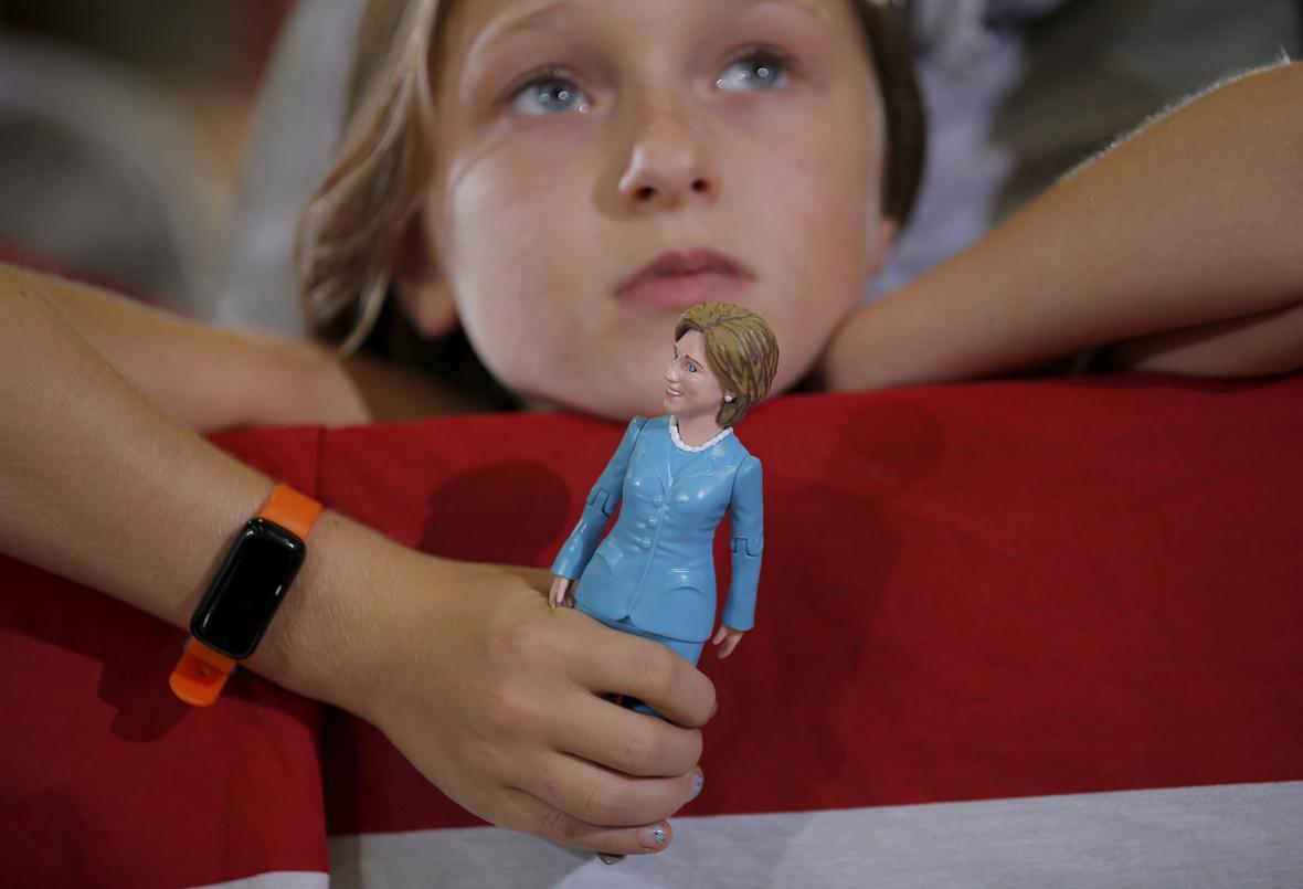Hillary Clintonová v kampani