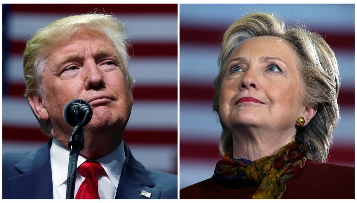 Donald Trump a Hillary Clintonová