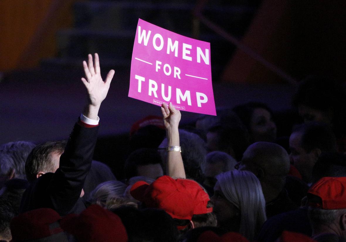 Radost Trumpových fanoušků