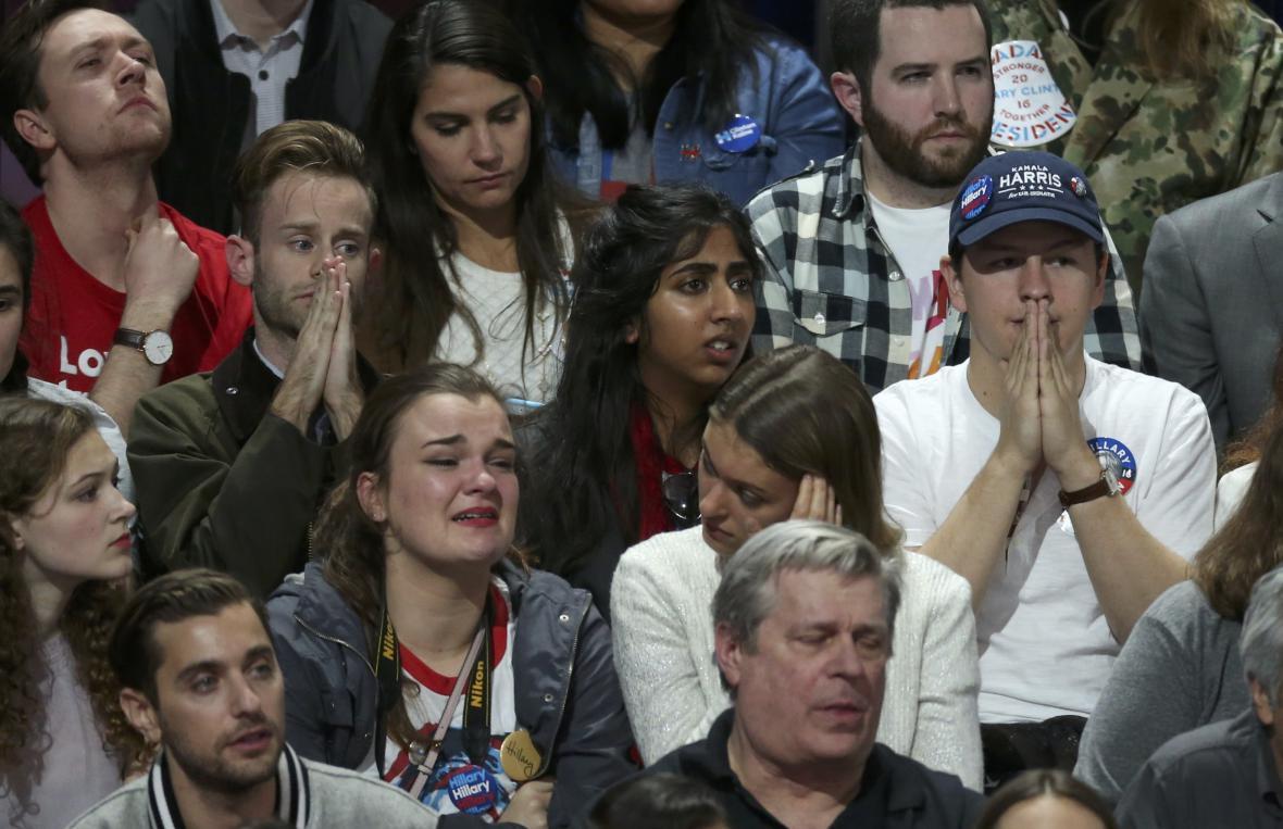 Zklamaní příznivci Clintonové