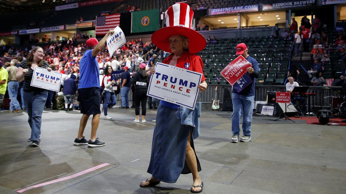 Z Trumpova předvolebního mítinku