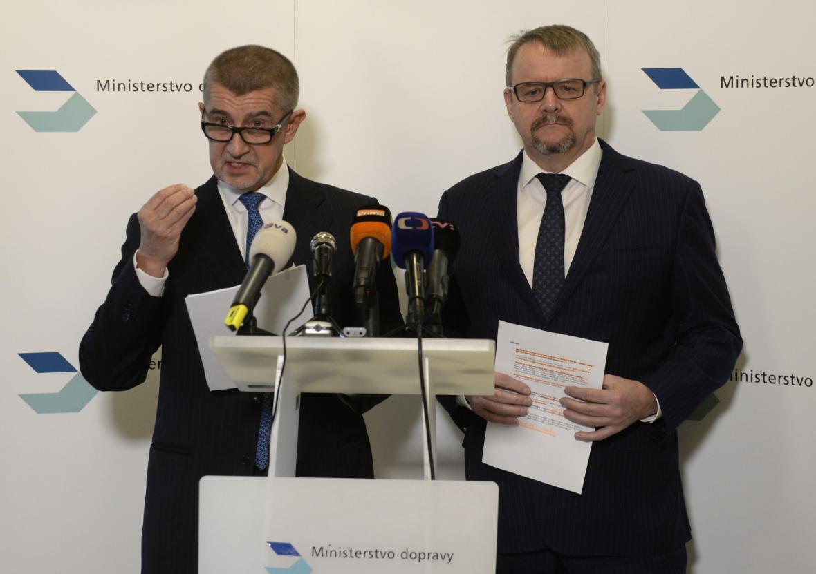 Andrej Babiš a Dan Ťok