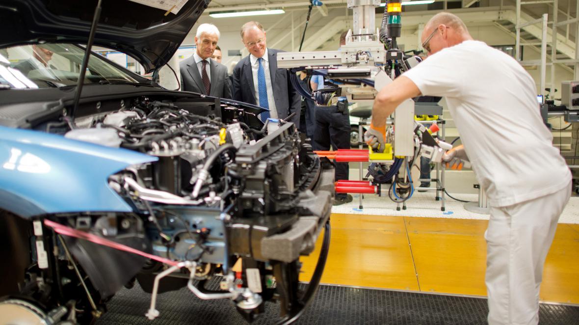 Továrna Volkswagenu v německém Wolfsburgu