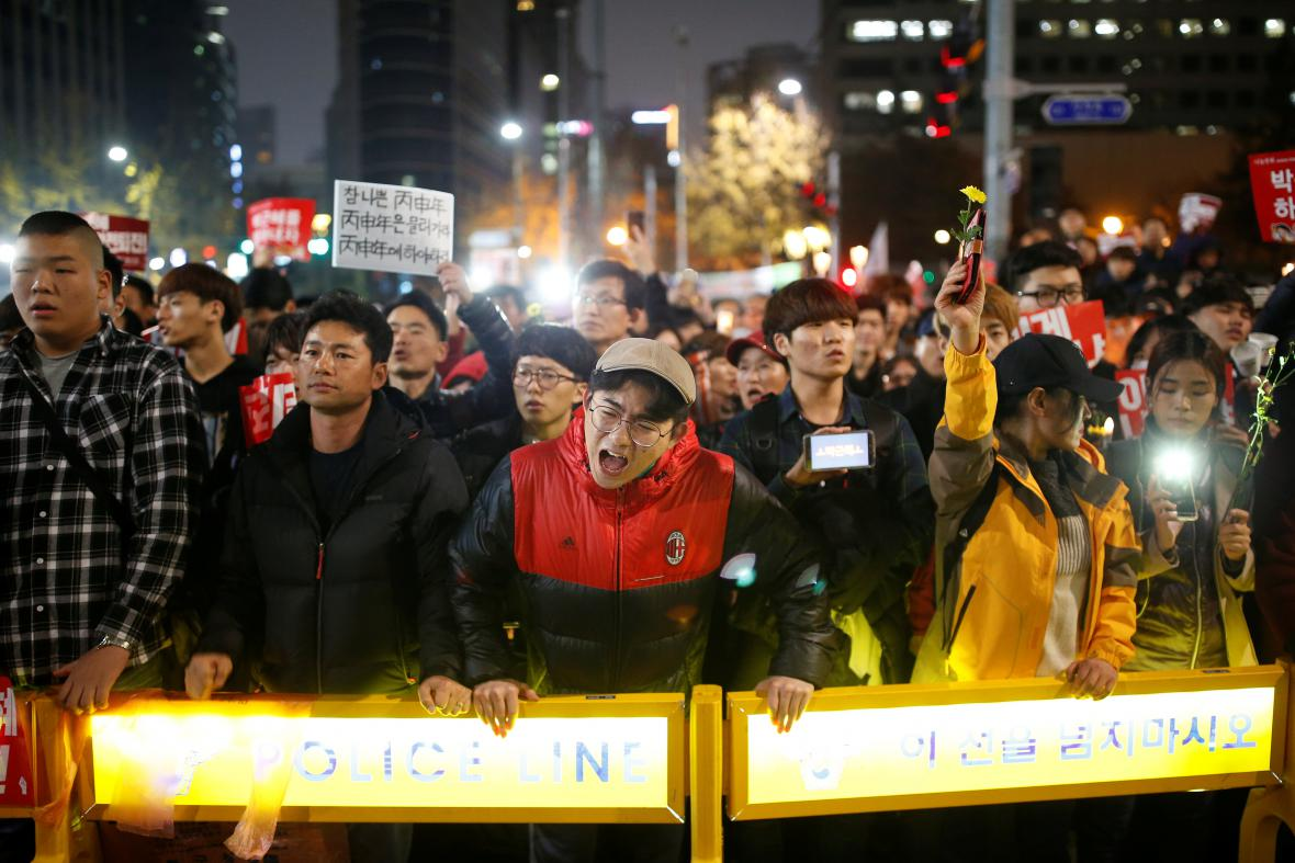 Korejci protestují proti prezidentce