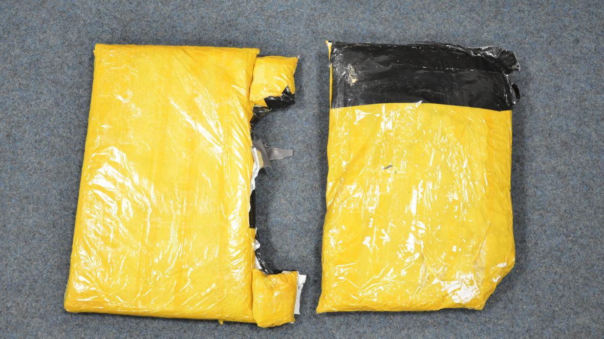 Heroin nalezený u cizince na letišti 20. listopadu 2016