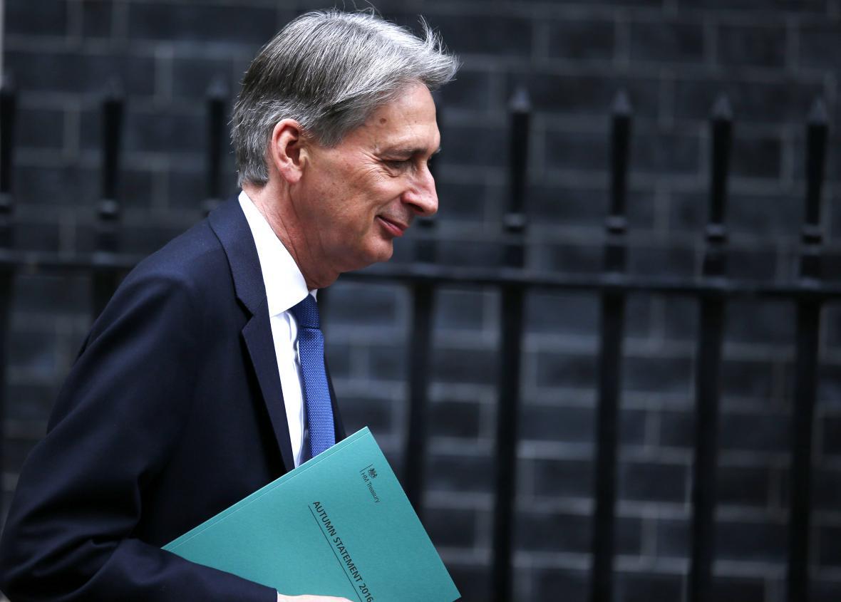 Britský ministr financí Philip Hammond