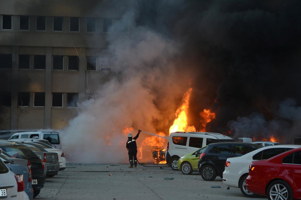 Výbuch v turecké Adaně