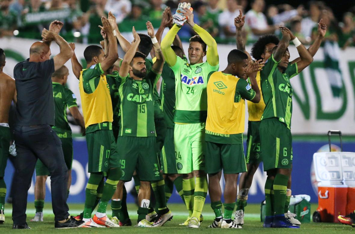 Fotbalisté brazilského týmu Chapecoense